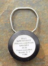 Vintage Adv Key Ring   M & S Supermarket Italian American Grocery Bayside, NY
