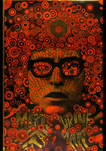 BOB DYLAN BLOWING IN THE MIND VINTAGE CONCERT POSTER REPRO ART PRINT