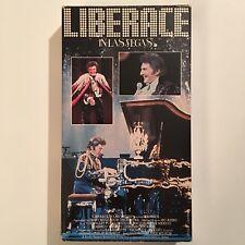 Rare Liberace In Las Vegas Vhs Mr. Showmanship Marco Valenti Lorenzo Escovia