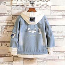 Anime My Neighbor Totoro Hoodies Jean Coat Casual Hooded Jacket Outerwear Travel