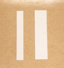 """HOTWHEELS REDLINE """"MIGHTY MAVERICK STICKER STRIPES WHITE BOTH VARIATIONS"""""""