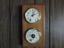 Bey-Berk clock and Barometer, Thermometer Model WS 113 Brass and wood New in box