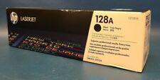 Brand New, Sealed Genuine HP 128A Black Toner Cartridge CE320A.