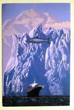 Holland America To Alaska by Artist Wilson McLean . Ocean Liner Cruise Ship Boat