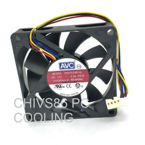 HXS 4 Pin PWM 7015 7cm 70x70x15mm CPU Heat-sink Cooler 12v Brushless Cooling Fan