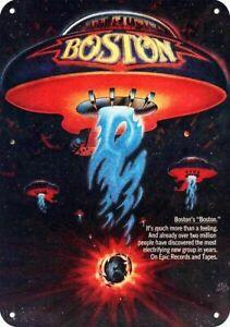 1977 BOSTON Band - BOSTON UFO SPACESHIP Art- ** DECORATIVE REPLICA METAL SIGN **