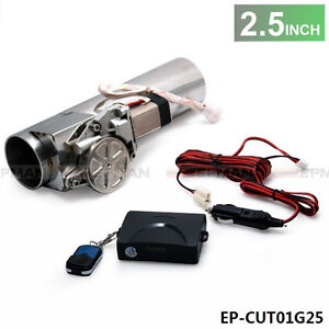 """2.5"""" Type Electric Exhaust Catback Downpipe E-Cutout Valve System Remote Kit"""