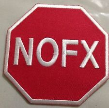 "NOFX - Sign Logo Embroidered Patch , Iron / Sew - On 3""x3"""