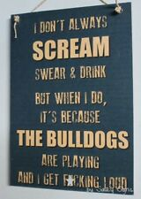 Canterbury Bulldogs Naughty Retro Footy Sign - Jersey Cards Rugby League Etc