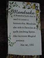 Mandrake root Herb America spells herbs Spell Supplies Pagan Incense Witchcraft