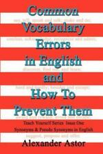 Common Vocabulary Errors in English and How to Prevent Them: Teach Yourself Seri