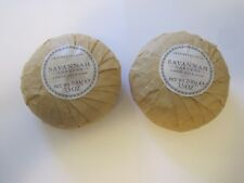 CRABTREE EVELYN TWO VINTAGE ROUND SAVANNAH GARDENS SOAP BARS~SEALED  WRAP 3.5 o