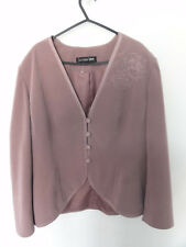 Jacques Vert Floral Detail Jacket Pale Purple/Mauve Size 16