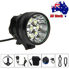 Super Bright 50000LM 9x T6 LED Bike Bicycle Head Light Headlamp+Laser Rear Light