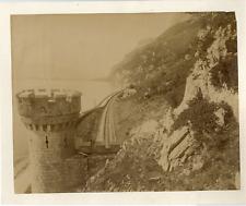 ND. France, Lac du Bourget, Vue prise du Tunnel de Brisson  Vintage albumen prin