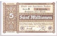Alemania Notgeld Aachen Stadt & Landkreis 5 millones de marcas de 20.07.1923 Au Unc