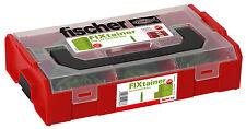 fischer FIXtainer UX-GREEN Dübel Sortiment Stapelboxen Sortimentsboxen