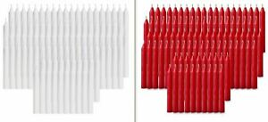 120 pcs Bulk Candles Mix 60-Red & 60-White Christmas Tree Candles,Chime,Pyramid