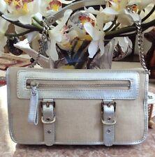 RAFE New York Ivory / Silver Shoulder Handbag Purse