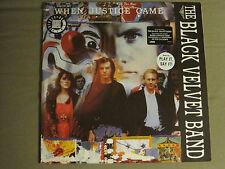 THE BLACK VELVET BAND WHEN JUSTICE CAME LP ORIG '89 PROMO ELEKTRA INDIE ROCK NM