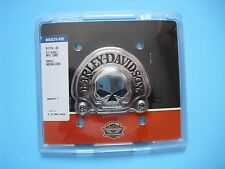 HARLEY  OEM Willie G Skull CHROME MEDALLION BADGE Sissy Bar Tour Pack Bat