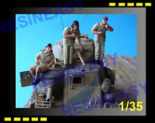 Free shipping 1/35 BRITISH TANK CREW ALAMEIN X3 FOR CHURCHILL & M3 GRANT HF584