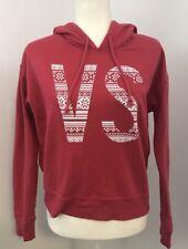 Victoria's Secret Angel Womens Melon Red VS Logo Hooded Pullover Shirt sz. S/P