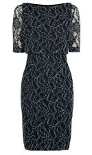Beautiful *COAST* Mia Lace Dress , Navy ( size Uk 8) bnwt