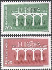 Andorra 1984 EUROPA/CEPT/Ponti Emblema/ANIMAZIONE 2 V Set (n42827)