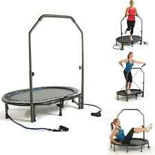 Indoor Fitness Trampoline Jogger Sport DVD Exercise Handlebar Woman Workout Oval