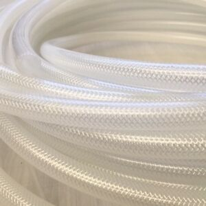 Reinforced Silicone Tube , Various Sizes and Lengths, trans