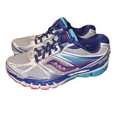 Saucony Guide 8 Women's Running Shoes Size 7.5 W Blue/Silver
