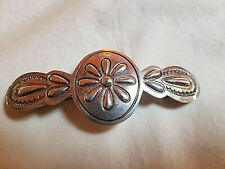 Sterling Silver Navaho Barrette Signed H. Bahe Large