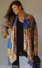 browns jacket coat 4X 5X 6X  batik art boho asymetrtical zc395