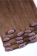 35, 40, 45, 60cm 7 Tressen Clip In Set Remy Echthaar Extensions Haarverlängerung