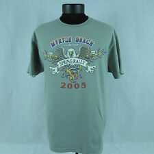 Myrtle Beach 65th Anniversary Spring Rally 2005 Men's Medium Green T-Shirt