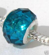 Silver Blueberry Quartz Crystal Charm Bead REIKI BLESS