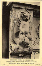 Scultura Busto Arte Motivo Mappa postcard AK per 1910 Angelo in pietra serena