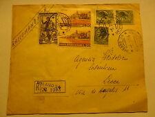 BELLA RECOMENDADO 5.2.1954 DA MILÁN PARA LA AGENCIA COLECCIÓN DE SELLOS