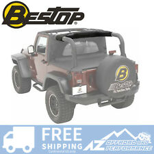 Bestop Sound Bar Cap 07-18 Jeep Wrangler JK JKU - Black Diamond 80040-35
