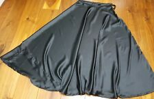 Black Satin Skirt full flair umbrella cut navratri lengha garba ghoomar
