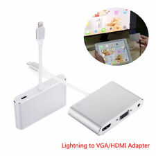 Lightning To HDMI VGA Audio Adapter 3 In 1 Converter For iPhone 6 6S 7 Plus iPad