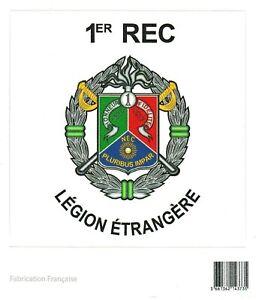 Autocollant  1°REC 1°Régiment Etranger de Cavalerie LÉGION ÉTRANGÈRE 10 x 10 cm
