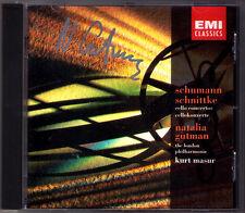 Natalia GUTMAN Signiert SCHUMANN & SCHNITTKE Cello Concerto CD Kurt MASUR EMI