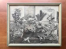 Vintage Photo Funeral Funerary Flowers Papa Brother Son