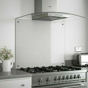 Kitchen Glass Splashback Toughened and Heat Resistant Clear Cooker Backsplash