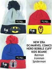 NEW ERA DC/MARVEL COMIC HERO BOBBLE CUFF KIDS BEANIE - Batman/Ironman/Spiderman