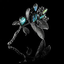 Exquisite Natural Abalone Shell branch Brooch Wedding Birthday Party Gift Pin
