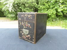 PETITE BOITE A BIJOUX EN BOIS PEINT EPOQUE NAPOLEON III / VICTORIAN JEWEL BOX