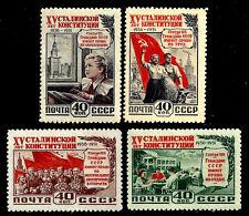 RUSSIA. Adoption of Stalin constitution. 1952 Scott 1624-1627. MNH (BI#NMBX)